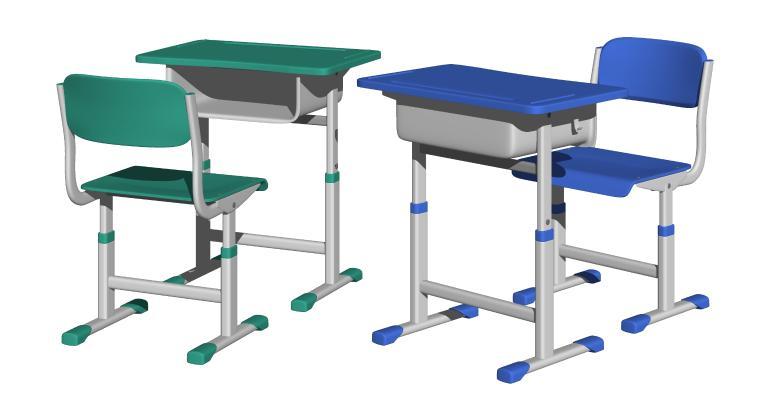 现代儿童学习桌 教室课桌椅 培训桌椅