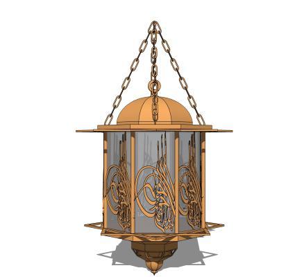 现代金属雕花吊灯