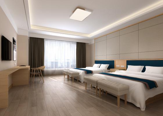 日式酒店客房 双人标准间 座椅