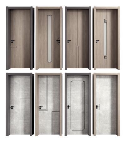 新中式室内单开木门