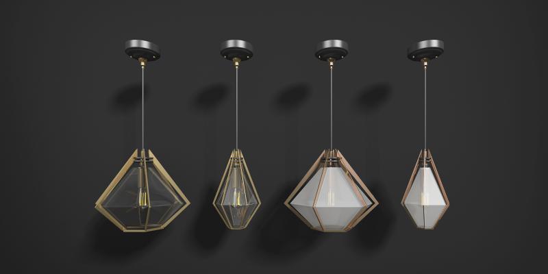 现代金属小吊灯