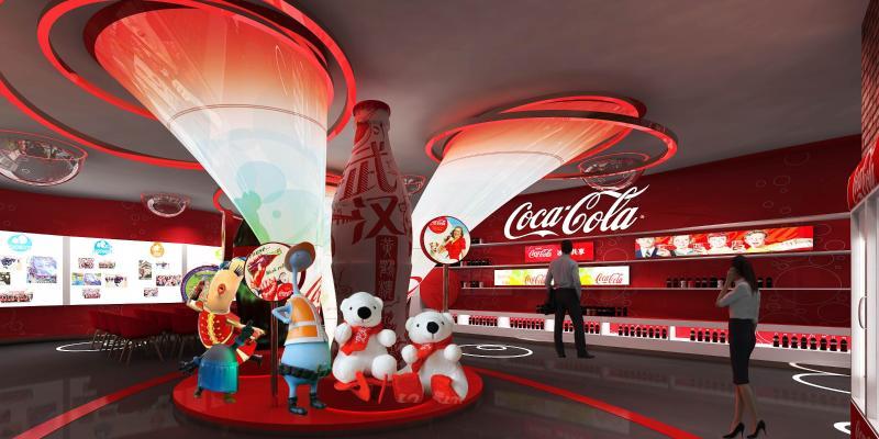 现代风格展厅 可口可乐展厅