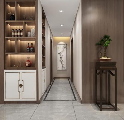 新中式走廊 玄关