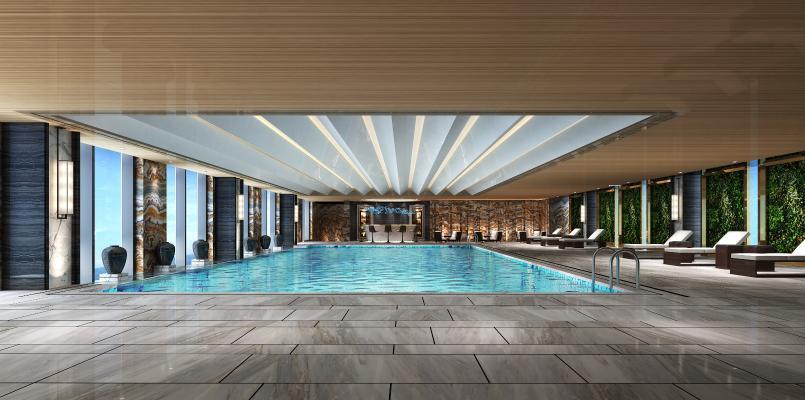 现代游泳池