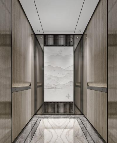 新中式电梯轿厢