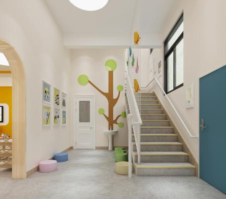 现代幼儿园 楼梯间