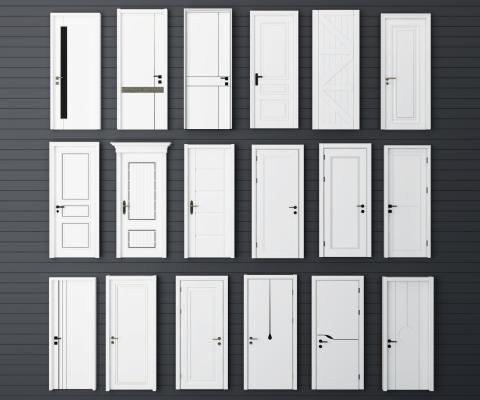现代实木房门 单开门