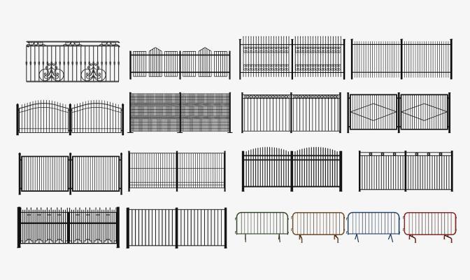 现代户外庭院栏杆 铁艺围栏