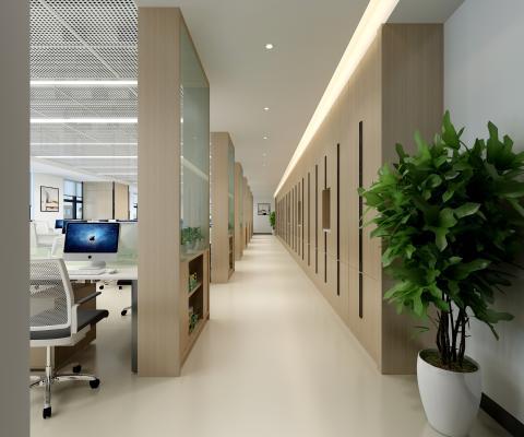 现代办公室过道