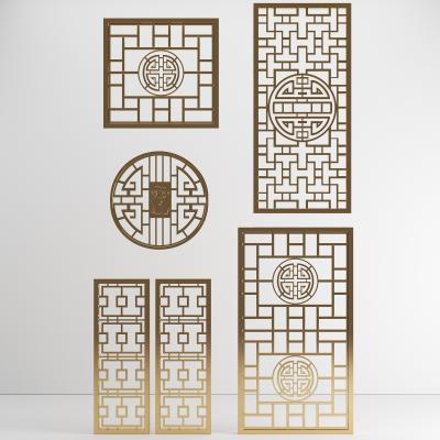 中式窗花屏风隔断