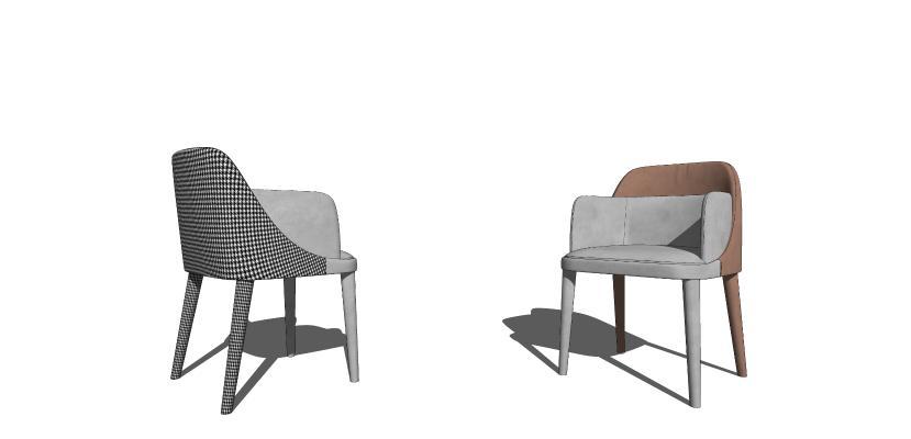 北欧休闲单人椅组合