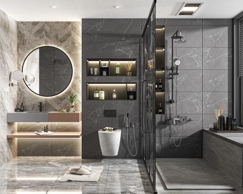 现代家居卫生间 厕所 浴室柜