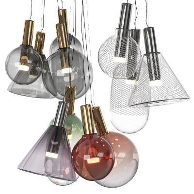 Bomma现代玻璃吊灯组合