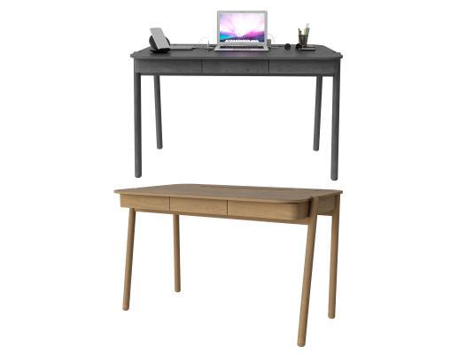 现代简约实木书桌 陈设品 桌
