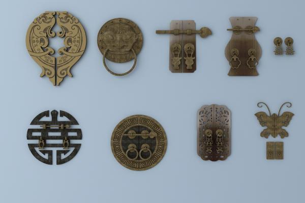 中式五金件 门把手 推手