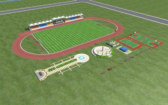 现代体育场设施