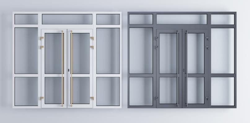 现代玻璃大门