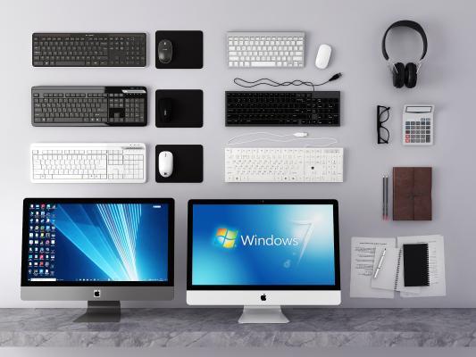 现代电脑 键盘 鼠标组合 台式电脑