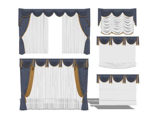 欧式布艺窗帘组合