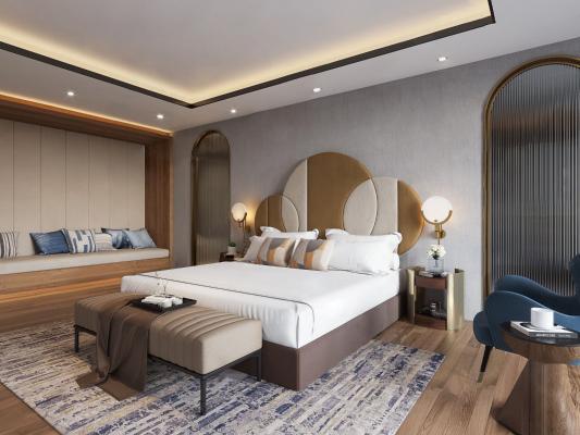 现代风格酒店客房 套房