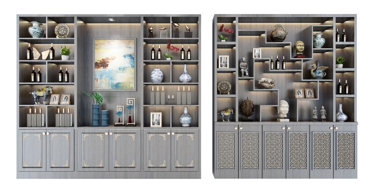 新中式酒柜 装饰柜