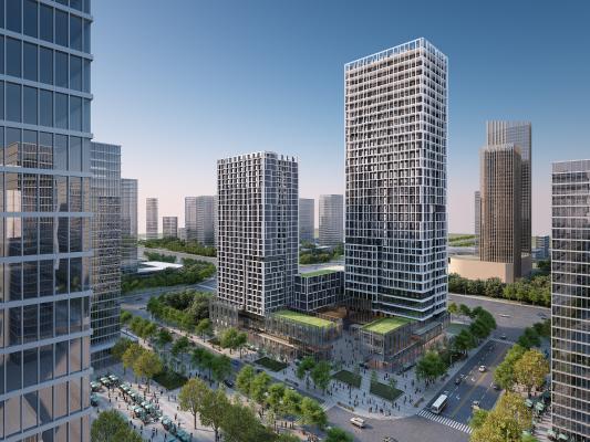 现代高层办公楼建筑外观 商业大厦 城市建筑