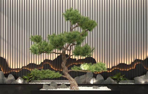 新中式景观植物组合盆栽