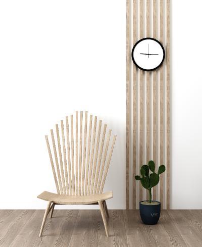 北欧休闲单椅仙人掌盆栽组合