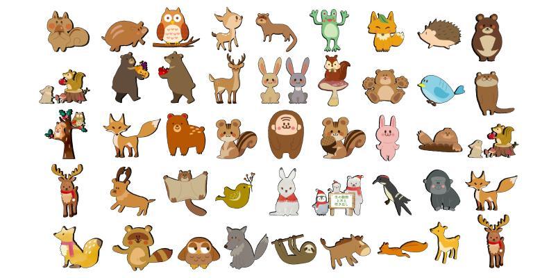 现代卡通墙饰 动物墙贴