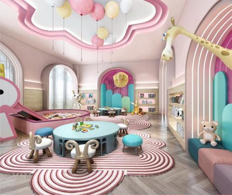 现代娱乐区 儿童游乐区 阅览室