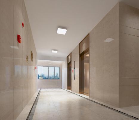 现代电梯厅 消防构件