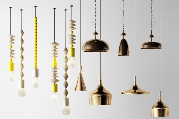 北欧风格吊灯 金属灯 木质卡通灯