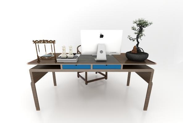 新中式書桌椅組合