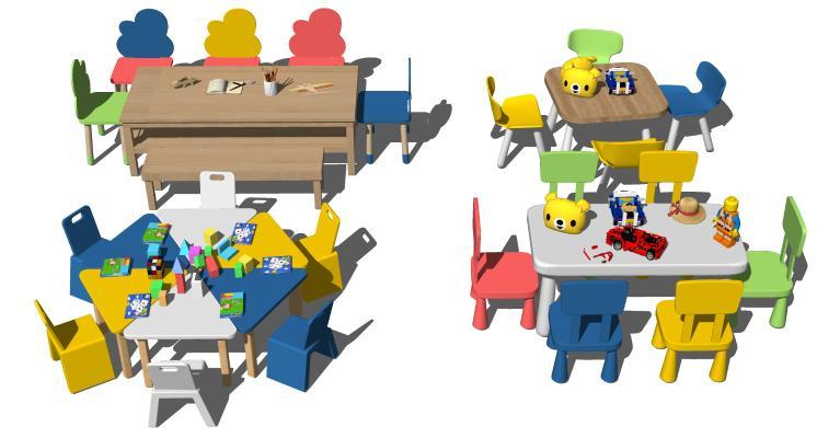 现代儿童学习课桌椅 幼儿园桌椅 学习桌