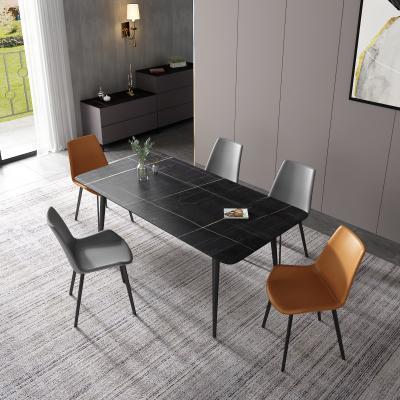 现代岩板餐桌椅组合
