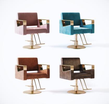 现代理发椅 沙龙椅 单椅