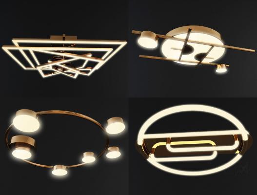 现代吸顶灯组合