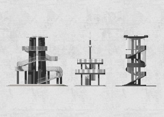 现代观光塔 景观台 观景塔