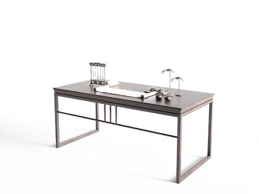 云水檀心新中式书桌
