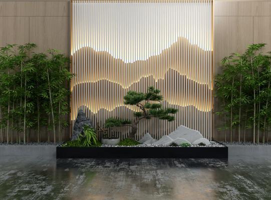 新中式园艺小品 山水景观