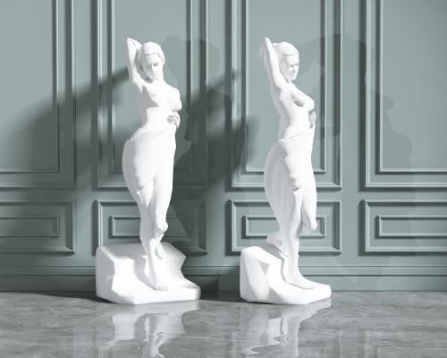 欧式简约雕塑组合