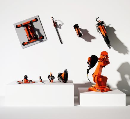 现代机械臂机械手 工业机器人