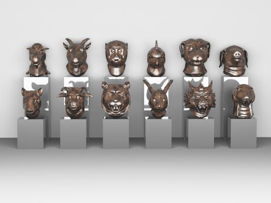 传统中式十二生肖首部构建