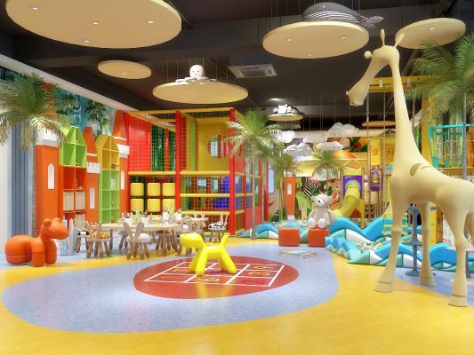 现代儿童游乐场 幼儿园 淘气堡