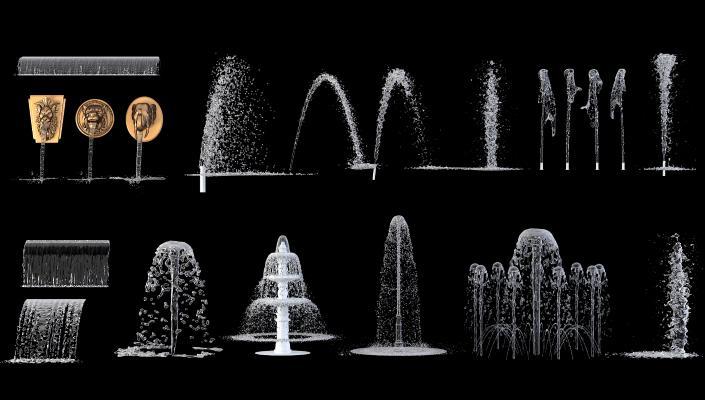 现代喷泉 旱喷 水柱