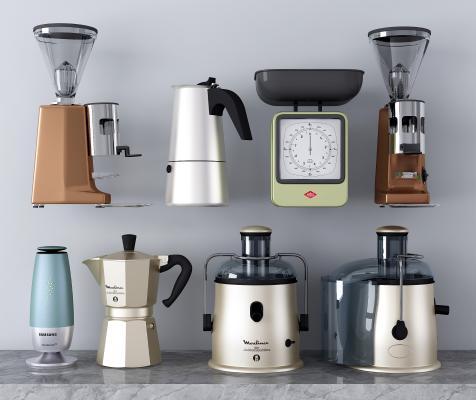 现代厨房电器 咖啡机 榨汁机 饮水机