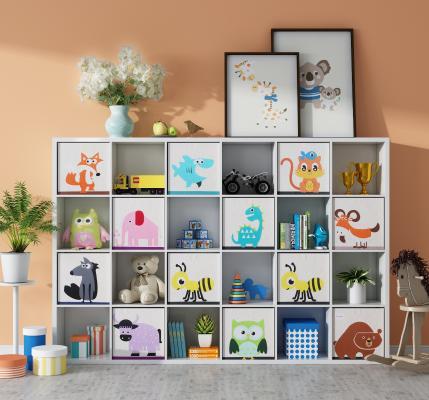 现代书柜 装饰边柜 木马
