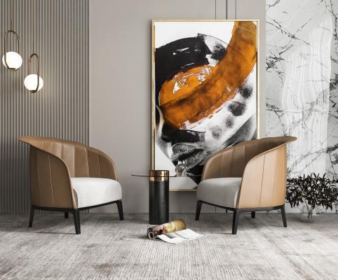 现代单椅 沙发椅 客厅单椅