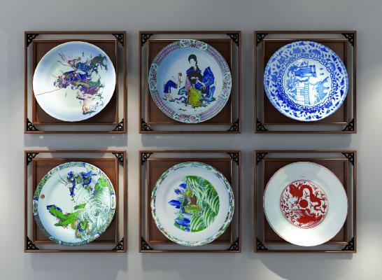 新中式盘子装饰品
