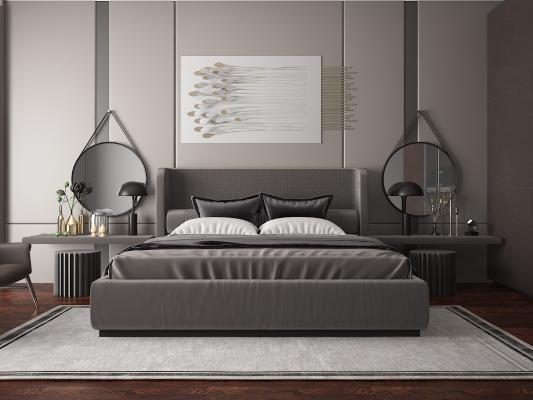 現代雙人床 臥室